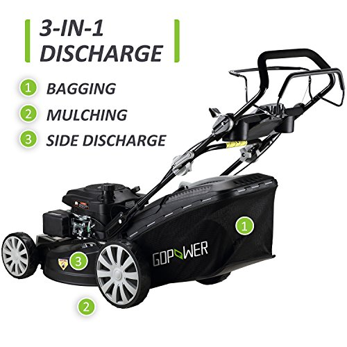 I-Choice-3-in-1-Gasoline-Self-Propelled-Lawnmower-High-Rear-Wheel-Drive-Push-Mower-with-OHV-Engine-Deck-Recoil-Start-System-Side-Discharge-Mulching-Rear-Bag-0-2