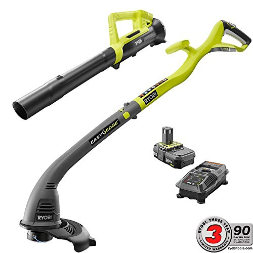 Ryobi-ONE-18-Volt-Lithium-Ion-String-TrimmerEdger-and-Blower-Combo-Kit-20-Ah-Battery-and-Charger-Included-Compact-and-Lightweight-Design-for-Ease-of-Use-0