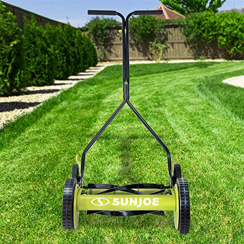 Sun-Joe-MJ503M-14-Inch-Quad-Wheel-9-Position-Manual-Reel-Mower-0-0
