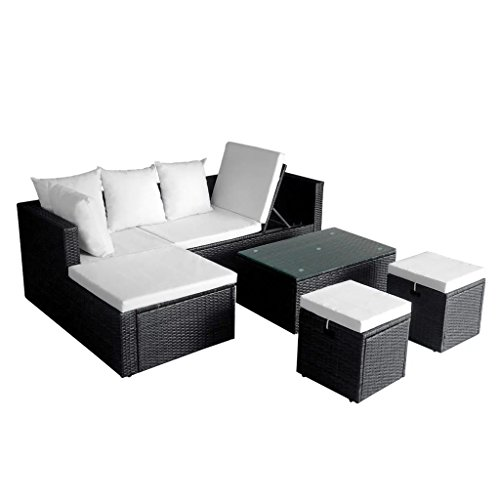 12-Pieces-Garden-Lounge-Set-Black-Poly-Rattan-Sectional-Sofa-Made-of-Weather-resistant-and-Waterproof-PE-Rattan-Garden-Corner-Sofa-0-0