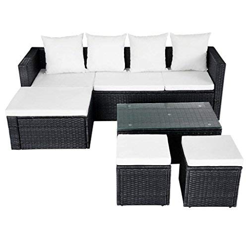 12-Pieces-Garden-Lounge-Set-Black-Poly-Rattan-Sectional-Sofa-Made-of-Weather-resistant-and-Waterproof-PE-Rattan-Garden-Corner-Sofa-0