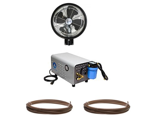 18-HIGH-PRESSURE-Oscillating-1-Misting-Fan-Wall-Mount-Enclosed-Pump-and-Tubing-Misting-Kit-0