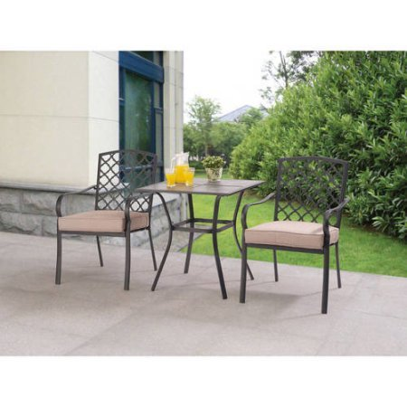 3-Piece-Bistro-Set-Includes-Table-and-2-Chairs-Durable-Powder-Coated-Steel-Frames-Reversible-Cushions-Come-With-Easy-on-and-off-Clip-100-Outdoor-Printed-Fabric-Easy-to-Assemble-0