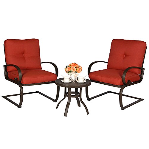 3-Piece-Outdoor-Bistro-Furniture-Patio-Set-Cafe-Garden-Yard-Pool-Iron-Table-with-Cushioned-armrest-Seats-Brick-Red-Cushion-Square-Table-0