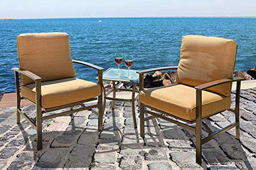 3-Piece-Patio-Outdoor-Bistro-Set-Furniture-Two-Cushioned-Chairs-Glass-Coffee-Table-0