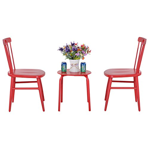 3-pcs-Bistro-Steel-Table-and-Chair-Red-0-0