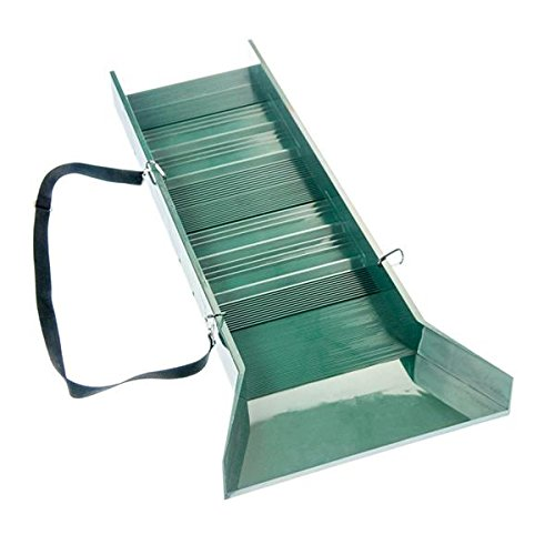 30-Light-Weight-Green-Sluice-Box-with-Shoulder-Strap-ABS-Plastic-16-wide-Flair-10-Riffles-0