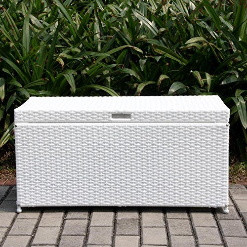 40-White-Resin-Wicker-Outdoor-Patio-Garden-Hinged-Lidded-Storage-Deck-Box-0