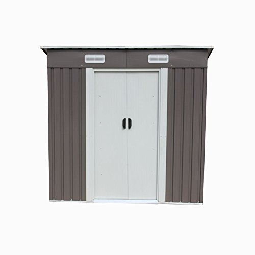 46-Outdoor-Steel-Metal-Garden-Storage-Shed-Tool-House-WSliding-Door-0-0