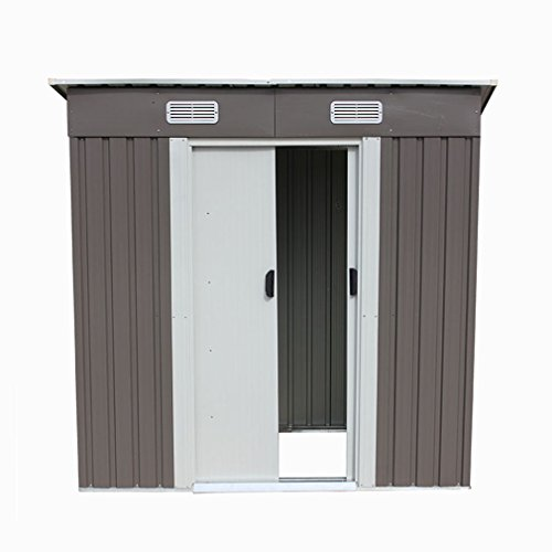 46-Outdoor-Steel-Metal-Garden-Storage-Shed-Tool-House-WSliding-Door-0-6