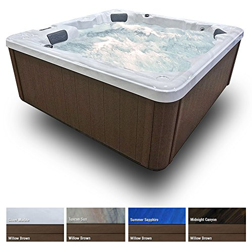 5-Seat-27-Stainless-Jets-Waterfall-Ozone-LED-Lights-Cover-Willow-Brown-Cabinet-0-0