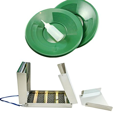 50-Long-Folding-Sluice-Box-2-10-Green-Gold-Pans-Snuffer-Bottle-Kit-0
