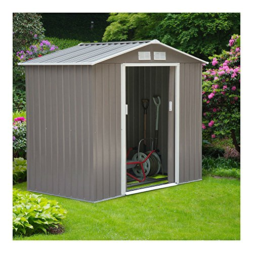 7×4-Steel-Outdoor-Garden-Storage-Shed-All-Weather-Tool-Utility-Backyard-Lawn-0
