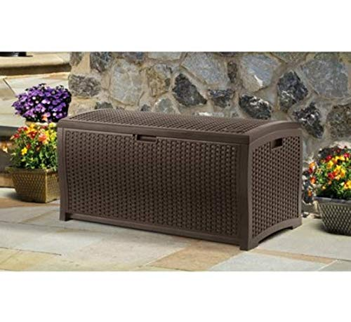 99-Gallon-Java-Resin-Wicker-Deck-Box-Contemporary-Wicker-Design-Stay-Dry-Design-Keeps-Out-Inclement-Weather-Long-Lasting-Resin-Construction-Attractive-Versatile-Storage-and-Organization-Option-0-0