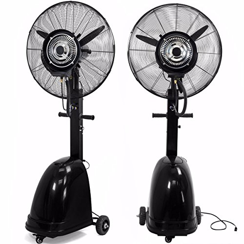 9TRADING-Commercial-26-High-Velocity-Outdoor-indoor-Mist-Fan-Black-Industrial-Cool-Free-Tax-Delivered-within-10-days-0
