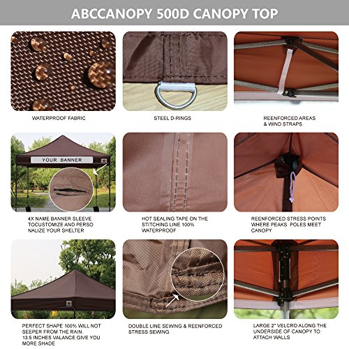 ABCCANOPY-18Colors-Commercial-10×10-Ez-Pop-up-Canopy-Party-Tent-Fair-Gazebo-with-6-Zipped-End-Sidewalls-and-Roller-Bag-Bonus-4X-Weight-Bag-0-0