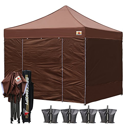 ABCCANOPY-18Colors-Commercial-10×10-Ez-Pop-up-Canopy-Party-Tent-Fair-Gazebo-with-6-Zipped-End-Sidewalls-and-Roller-Bag-Bonus-4X-Weight-Bag-0