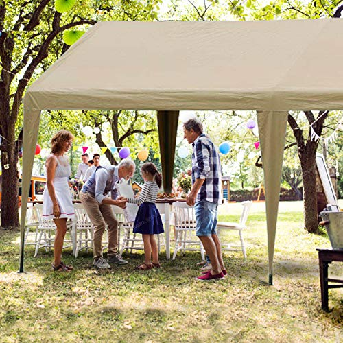 Abba-Patio-10-x-20-Feet-Outdoor-Carport-Canopy-with-6-Steel-Legs-White-0-0