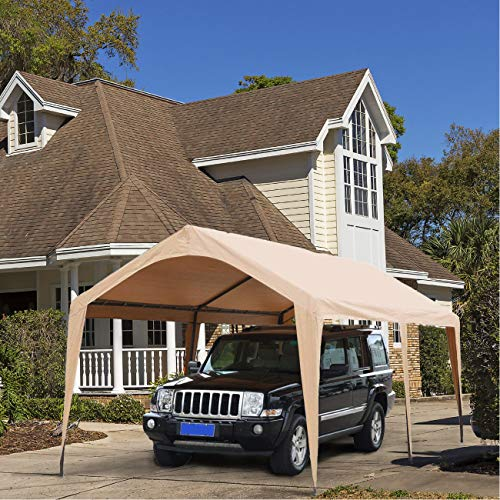 Abba-Patio-10-x-20-Feet-Outdoor-Carport-Canopy-with-6-Steel-Legs-White-0-1