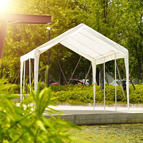 Abdone-Carport-10-x-20-Feet-Outdoor-Heavy-Duty-Car-Canopy-Shelter-8-Steel-Legs-Water-Resistant-White-0-1