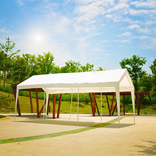 Abdone-Carport-10-x-20-Feet-Outdoor-Heavy-Duty-Car-Canopy-Shelter-8-Steel-Legs-Water-Resistant-White-0-2