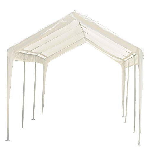 Abdone-Carport-10-x-20-Feet-Outdoor-Heavy-Duty-Car-Canopy-Shelter-8-Steel-Legs-Water-Resistant-White-0
