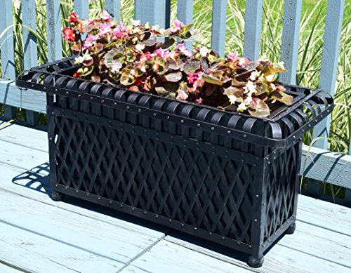 American-Patio-Rectangular-Outdoor-Planter-Metal-Trough-0-0