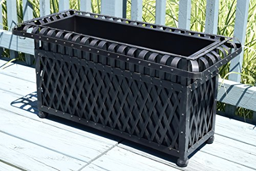 American-Patio-Rectangular-Outdoor-Planter-Metal-Trough-0-1