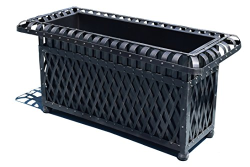 American-Patio-Rectangular-Outdoor-Planter-Metal-Trough-0