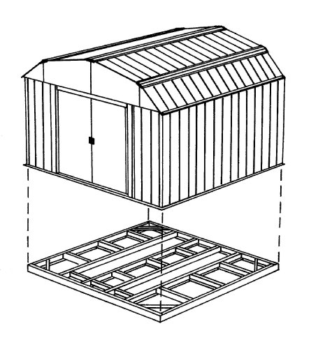Arrow-FDN54-Storage-Shed-with-Floor-Base-Kit-for-5×4-Arrow-sheds-0-1