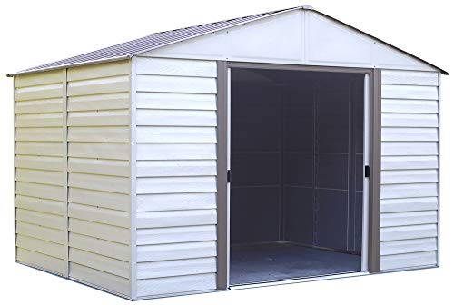 Arrow-Vinyl-Milford-High-Gable-Steel-Storage-Shed-Grey-BarkAlmond-10-x-12-ft-0-0