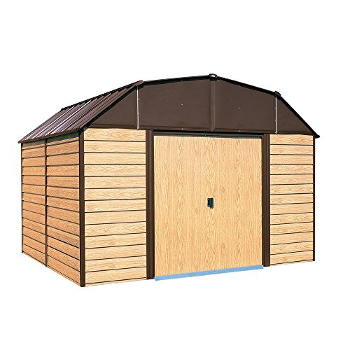 Arrow-Woodahven-10-ft-x-9-ft-Steel-Storage-Shed-with-Floor-Kit-0