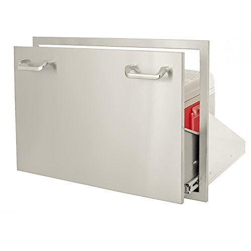 BBQGuyscom-Kingston-Series-30-inch-Stainless-Steel-Roll-out-Ice-Chest-Storage-Drawer-0-1