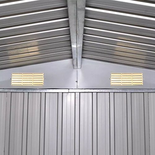 BLXCOMUS-Outdoor-Green-Garden-Storage-Shed-Metal-Garage-Storage-Organizer-Large-House-With-4-VentsDouble-Silding-DoorsSize1012x807x701-0-1