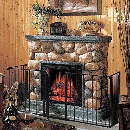 Baby-Safety-Fence-Hearth-Gate-BBQ-Fire-Gate-Fireplace-Metal-Plastic-0