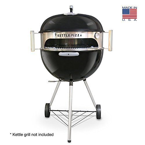 Basic-KettlePizza-Outdoor-Pizza-Oven-Kit-for-Weber-Kettle-Grills-Bonus-Woodfired-Oven-Cookbook-0-0
