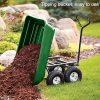 BestMassage-Garden-Cart-Utility-Yard-Dump-Cart-Wagon-Carrier-Wheelbarrow-4-Air-Tires-with-Poly-Pulling-Wagon-10-Pneumatic-TiresHeavy-Duty-Steel-Frame-0-0