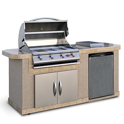 Cal-Flame-LBK-701-A-Stucco-Grill-Island-with-4-Burner-Stainless-Steel-Gas-Grill-0