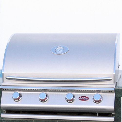 Cal-Flame-LBK-710-A-Stucco-Grill-Island-With-Tile-Top-And-4-Burner-Stainless-Steel-Gas-Grill-0-0