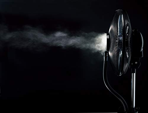 Canary-Products-CE134-Intelligent-Misting-Fan-Humidifier-Oscillating-Fan-Cool-Mist-Standing-Fan-16-Inches-Tall-BlackWhite-0-1