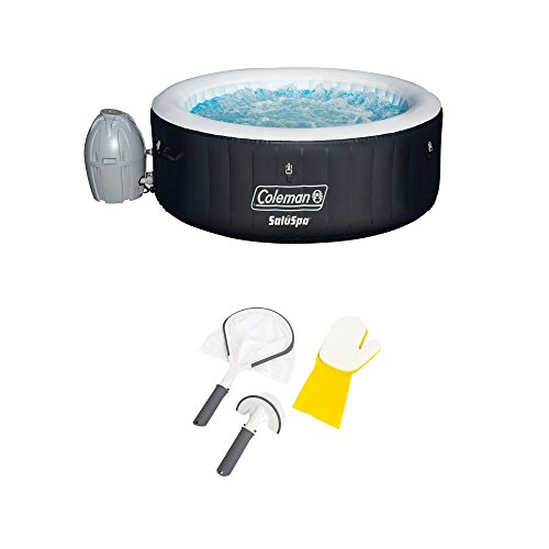 Coleman-SaluSpa-4-Person-Inflatable-Hot-Tub-Bestway-3-Piece-Cleaning-Tool-Set-0
