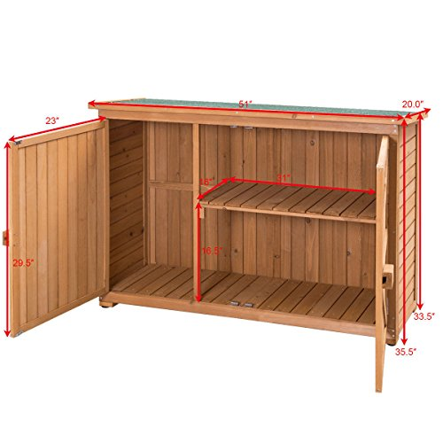 Double-Doors-Fir-Wooden-Garden-Yard-Shed-Lockers-Outdoor-Cabinet-Unit-For-Storage-0-1