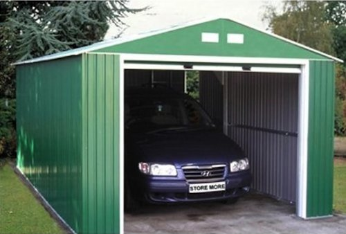 Duramax-55161-Metal-Garage-Shed-with-Side-Door-12-by-26-Inch-0-2