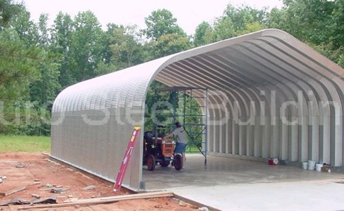 Duro-Span-Steel-G25x30x13-Metal-Building-Kit-Direct-Residential-Drive-Through-Carport-Garage-0
