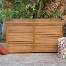 Elegant-90-Gallon-Finished-Acacia-Wood-Slatted-Euro-Finish-Decco-Design-Storage-Container-Deck-Box-Ventilated-Slats-Reduces-Moisture-Mildew-Perfect-For-Towels-Blankets-Pool-Toys-More-Portable-Strong-0