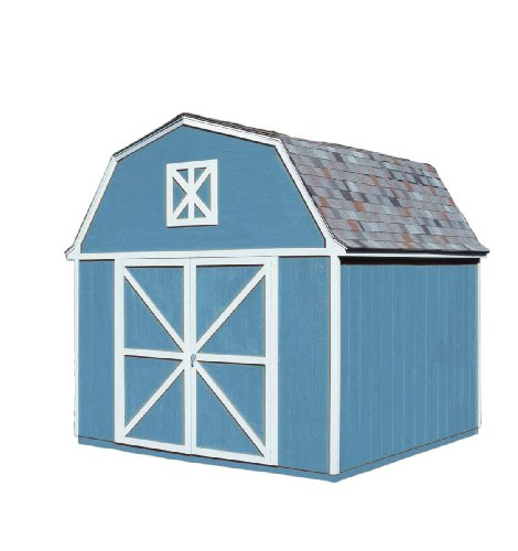 Handy-Home-Products-Berkley-Wooden-Storage-Shed-with-Floor-10-by-10-Feet-0