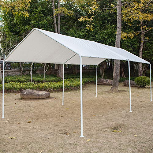 Honesty-Carport-Canopy-Tent-Frame-Shelter-Car-Boat-Truck-Garage-Storage-Shade-Metal-Big-0-0
