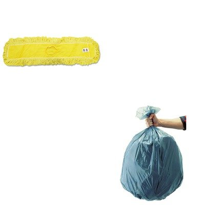 KITRCP501188GRARCPJ15500YEL-Value-Kit-Rubbermaid-Dust-Mop-Trapper-Looped-36X5-RCPJ15500YEL-and-Rubbermaid-5011-88-Tuffmade-Polyliner-Low-Density-Can-Liners-55-Gallons-RCP501188GRA-0