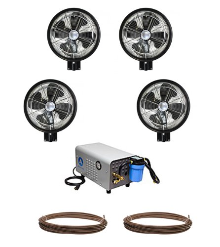 Kit-of-4-HIGH-PRESSURE-18-Oscillating-Misting-Fans-Enclosed-Pump-and-tubing-0