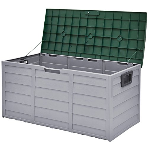 MD-Group-Outdoor-Box-Plastic-Storage-Waterproof-Container-Bench-Case-70-Gallon-Durable-Lockable-Lid-0-2